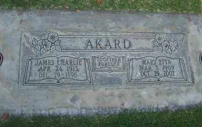 AKARD, JAMES CHARLIE - Sutter County, California | JAMES CHARLIE AKARD - California Gravestone Photos