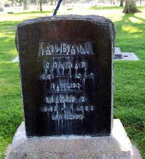 ALBAN, CONRAD - Sutter County, California   CONRAD ALBAN - California Gravestone Photos