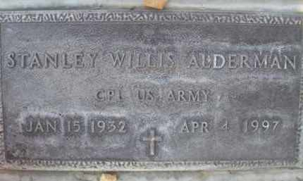 ALDERMAN, STANLEY WILLIS - Sutter County, California | STANLEY WILLIS ALDERMAN - California Gravestone Photos