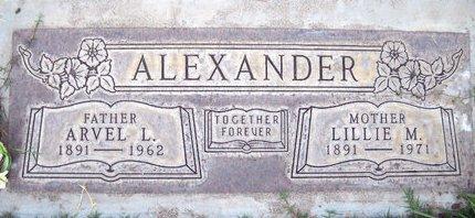 ALEXANDER, LILLIE M. - Sutter County, California | LILLIE M. ALEXANDER - California Gravestone Photos