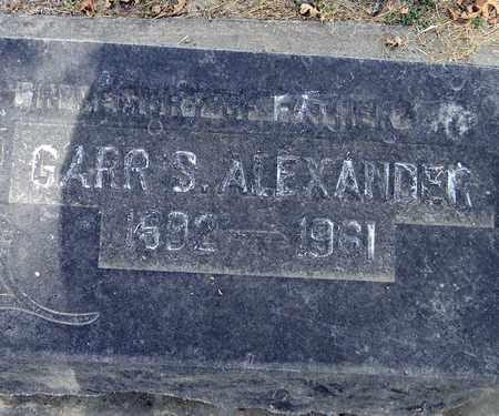 ALEXANDER, GARR S. - Sutter County, California | GARR S. ALEXANDER - California Gravestone Photos