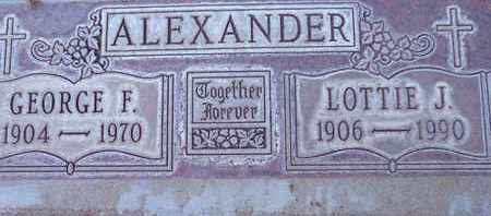 ALEXANDER, LOTTIE JESSMAN - Sutter County, California | LOTTIE JESSMAN ALEXANDER - California Gravestone Photos