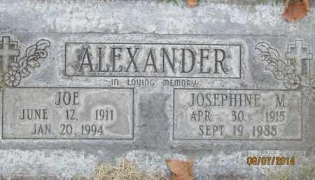 ALEXANDER, JOSEPHINE MATILDA - Sutter County, California | JOSEPHINE MATILDA ALEXANDER - California Gravestone Photos