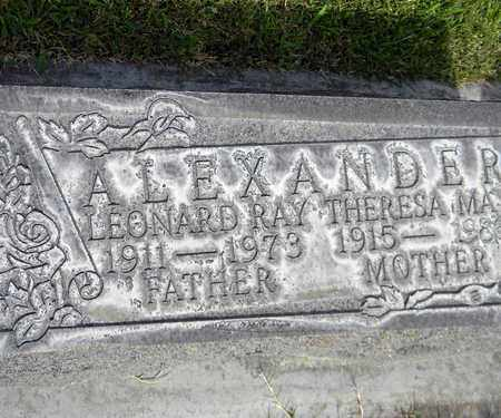 ALEXANDER, LEONARD RAY - Sutter County, California | LEONARD RAY ALEXANDER - California Gravestone Photos