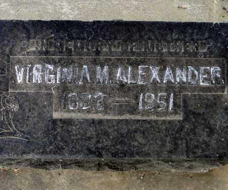 ALEXANDER, VIRGINIA M. - Sutter County, California   VIRGINIA M. ALEXANDER - California Gravestone Photos