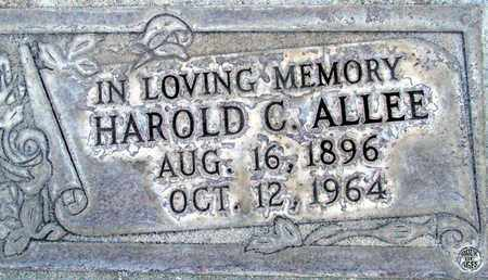 ALLEE, HAROLD C. - Sutter County, California   HAROLD C. ALLEE - California Gravestone Photos