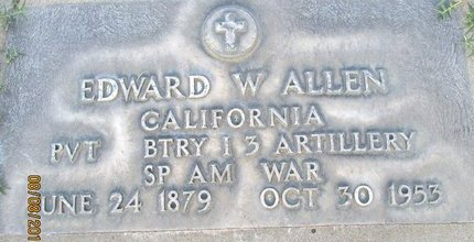 ALLEN, EDWARD W. - Sutter County, California | EDWARD W. ALLEN - California Gravestone Photos