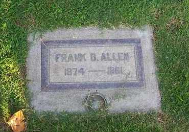 ALLEN, FRANK D. - Sutter County, California   FRANK D. ALLEN - California Gravestone Photos