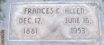 ALLEN, FRANCES C. - Sutter County, California | FRANCES C. ALLEN - California Gravestone Photos