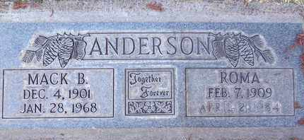 ANDERSON, ROMA FIDELINA - Sutter County, California   ROMA FIDELINA ANDERSON - California Gravestone Photos