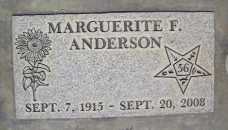 ANDERSON, MARGUERITE FLORENCE - Sutter County, California | MARGUERITE FLORENCE ANDERSON - California Gravestone Photos