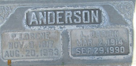 ANDERSON, PANSY  LORENE - Sutter County, California | PANSY  LORENE ANDERSON - California Gravestone Photos