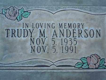 ANDERSON, TRUDY MAE - Sutter County, California | TRUDY MAE ANDERSON - California Gravestone Photos