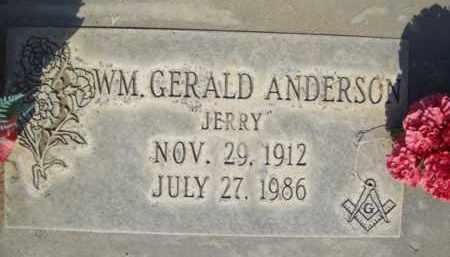 ANDERSON, WILLIAM GERALD - Sutter County, California   WILLIAM GERALD ANDERSON - California Gravestone Photos