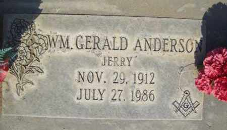 ANDERSON, WILLIAM GERALD - Sutter County, California | WILLIAM GERALD ANDERSON - California Gravestone Photos