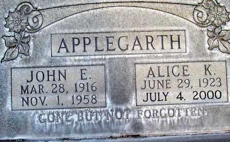 APPLEGARTH, JOHN EDWARD - Sutter County, California | JOHN EDWARD APPLEGARTH - California Gravestone Photos