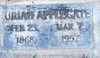 APPLEGATE, URIAH - Sutter County, California | URIAH APPLEGATE - California Gravestone Photos