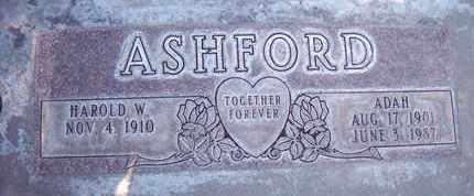 ASHFORD, HAROLD WESTIN - Sutter County, California   HAROLD WESTIN ASHFORD - California Gravestone Photos