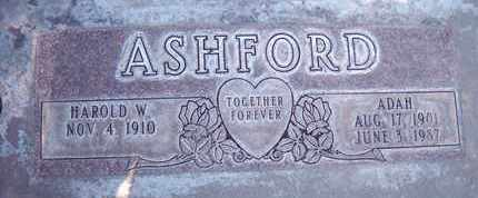 ASHFORD, ADAH - Sutter County, California | ADAH ASHFORD - California Gravestone Photos