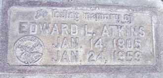 ATKINS, EDWARD LEGRAND - Sutter County, California | EDWARD LEGRAND ATKINS - California Gravestone Photos