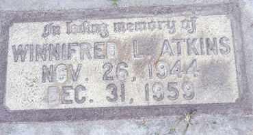 ATKINS, WINNIFRED L. - Sutter County, California | WINNIFRED L. ATKINS - California Gravestone Photos