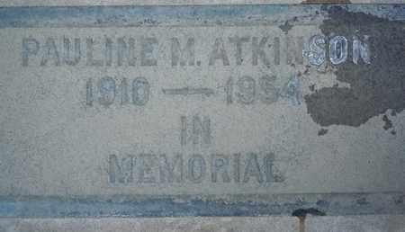ATKINSON, PAULINE M. - Sutter County, California   PAULINE M. ATKINSON - California Gravestone Photos