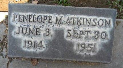ATKINSON, PENELOPE M. - Sutter County, California   PENELOPE M. ATKINSON - California Gravestone Photos