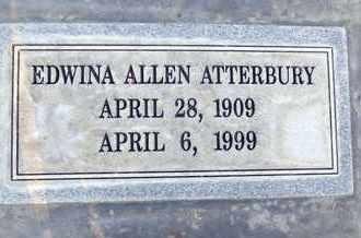 ATTERBURY, EDWINA ALLEN - Sutter County, California | EDWINA ALLEN ATTERBURY - California Gravestone Photos