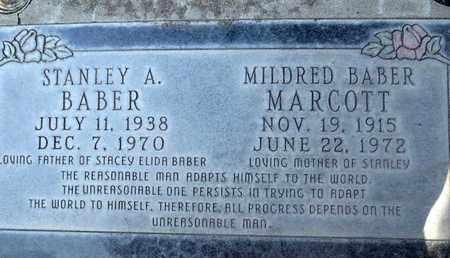 BABER MARCOTT, MILDRED ELIZABETH - Sutter County, California | MILDRED ELIZABETH BABER MARCOTT - California Gravestone Photos