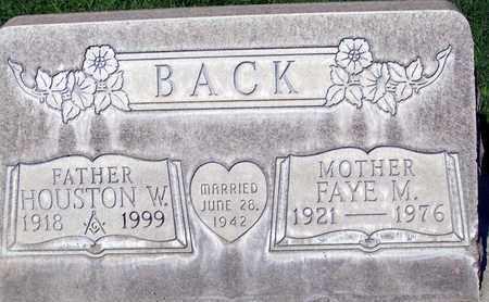 BACK, HOUSTON WAYNE - Sutter County, California | HOUSTON WAYNE BACK - California Gravestone Photos