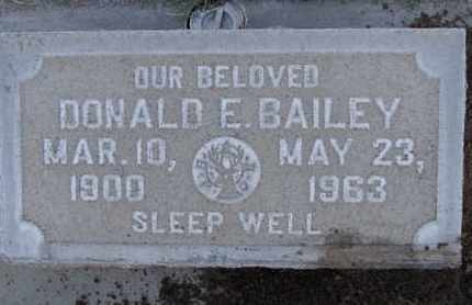 BAILEY, DONALD E. - Sutter County, California | DONALD E. BAILEY - California Gravestone Photos