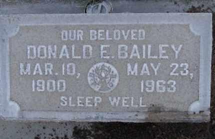 BAILEY, DONALD E. - Sutter County, California | DONALD E. BAILEY - California Gravestone Photos