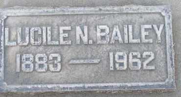 BAILEY, LUCILE N. - Sutter County, California | LUCILE N. BAILEY - California Gravestone Photos
