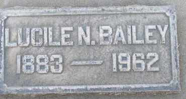 BAILEY, LUCILE N. - Sutter County, California | LUCILE N. BAILEY - California Gravestone Photos