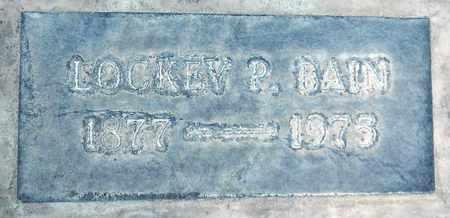 BAIN, LOCKEY P. - Sutter County, California | LOCKEY P. BAIN - California Gravestone Photos