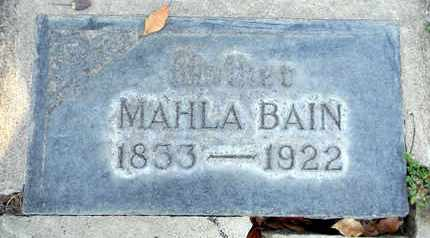BAIN, MAHLA - Sutter County, California   MAHLA BAIN - California Gravestone Photos