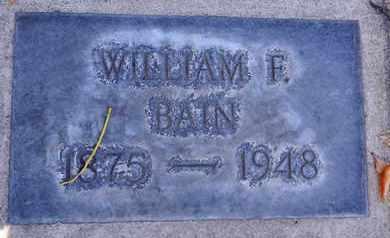BAIN, WILLIAM F. - Sutter County, California   WILLIAM F. BAIN - California Gravestone Photos