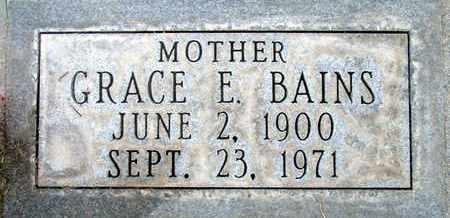 BAINS, GRACE E. - Sutter County, California   GRACE E. BAINS - California Gravestone Photos