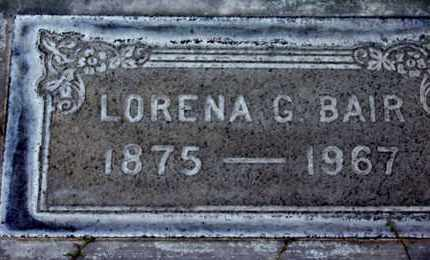 BAIR, LORENA GRACE - Sutter County, California | LORENA GRACE BAIR - California Gravestone Photos