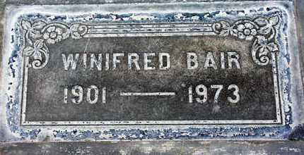 BAIR, WINIFRED - Sutter County, California   WINIFRED BAIR - California Gravestone Photos