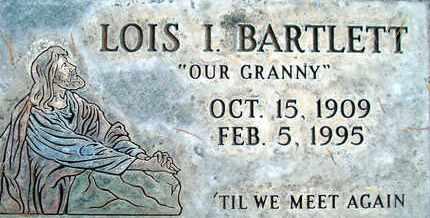 BARTLETT, LOIS ISABEL - Sutter County, California   LOIS ISABEL BARTLETT - California Gravestone Photos