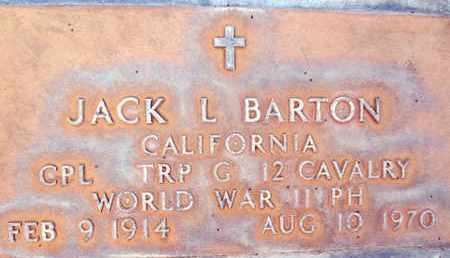 BARTON, JACK LAWSON - Sutter County, California | JACK LAWSON BARTON - California Gravestone Photos