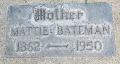 BATEMAN, MATTIE - Sutter County, California   MATTIE BATEMAN - California Gravestone Photos