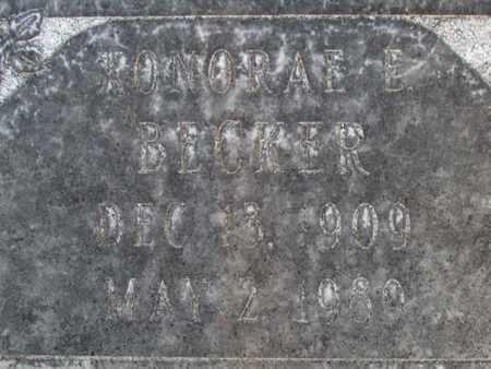 BECKER, XONORAE E. - Sutter County, California   XONORAE E. BECKER - California Gravestone Photos