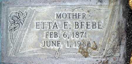 BEEBE, ETTA ELLEN - Sutter County, California   ETTA ELLEN BEEBE - California Gravestone Photos