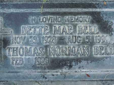 BELL, BETTE MAE - Sutter County, California | BETTE MAE BELL - California Gravestone Photos