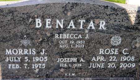 BENATAR, REBECCA JO - Sutter County, California   REBECCA JO BENATAR - California Gravestone Photos