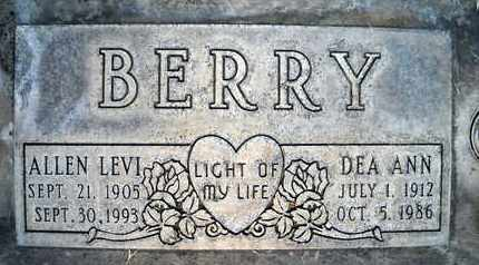 BERRY, ALLEN LEVI - Sutter County, California | ALLEN LEVI BERRY - California Gravestone Photos