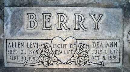 BERRY, ALLEN LEVI - Sutter County, California | ALLEN LEVI BERRY - California Gravestone Photos
