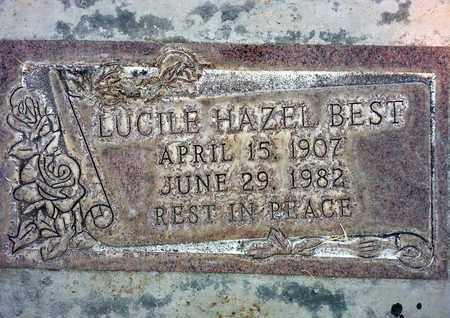 BEST, LUCILE HAZEL - Sutter County, California | LUCILE HAZEL BEST - California Gravestone Photos